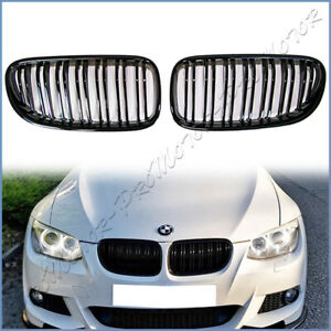 For 11 13 Bmw E93 E92 Lci Coupe Convertible M Type Front Hood Grille Shiny Black