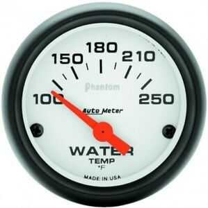 Auto Meter Phantom Series Water Temp Gauge 100 250 Degrees 5737