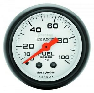 Auto Meter Phantom Series Fuel Pressure Gauge 0 100 Psi 5712
