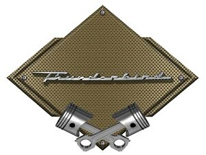 Ford Thunderbird Script Badge Heavy Duty Metal Sign 25 X 19 Bronze