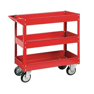 3 Tier Steel Service Cart Rolling Utility Tools Storage Organizer 30 X 16