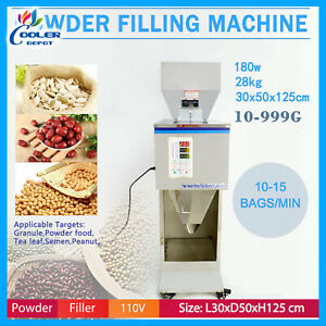 Powder Filler Machine Automatic Racking Filling Weigh For Tea seed grain