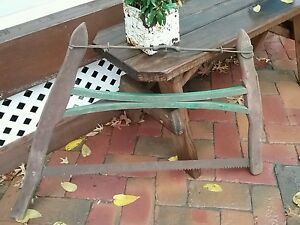 Antique Firewood Buck Saw Vintage Cabin Farm Barn Tool 18 19 C Amish Country