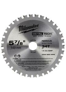 Milwaukee 48 40 4080 5 7 8 Ferrous Metal Blade