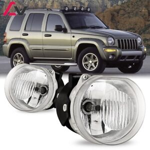 For Jeep Liberty 02 04 Clear Lens Pair Bumper Fog Light Lamp Oe Replacement Dot