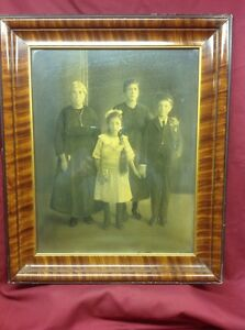 Large Vintage Picture Frame With Family Photo