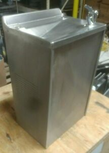 Wall Mount Drinking Fountain Stainless Steel Removed Working Great Condition