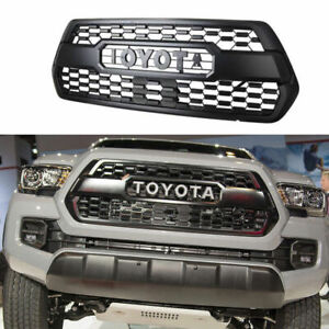 Matte Black Grill Front Bumper Hood Grille For Toyota Tacoma Trd Pro 2016 2017