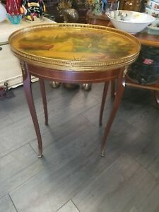 Beautiful Antique Spanish Painted Side Table