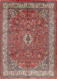 Top Quality Enticing Floral 9x12 Wool Persian Sarouk Oriental Rug 12 6 X 9 2