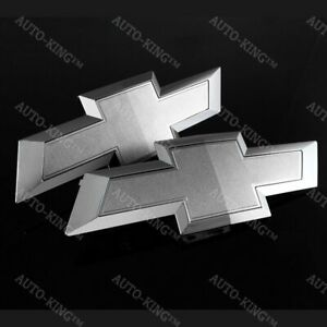 For 2016 2019 Gm Chevy Silverado 1500 Silver Front Tailgate Bowtie Emblem