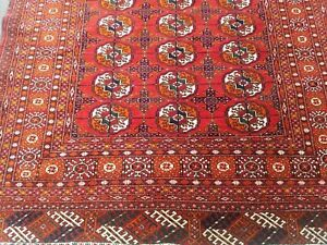 Fine Genuine Turkoman Tekke Bokhara Wool Hand Knotted Persian Rug Carpet 4 5 6