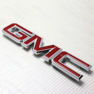 Front Grill Grille Emblem Badge Red For 2007 2013 Gmc Yukon Yukon Xl 1500