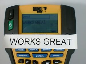 Dymo Rhino 6000 Industrial Professional Label Maker With Case Works Great