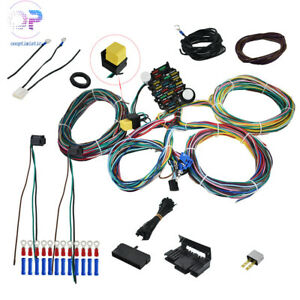 21 Circuit Wiring Harness For Chevy Mopar Ford Hotrods Universal X Long Wires