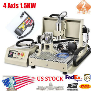 Industry New 4 Axis Router 6040t Engraving Machine Ac110v 60hz Water cooling
