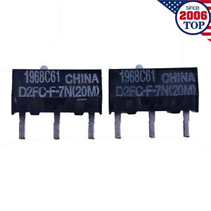 2pcs Omron Mouse Micro Switch Microswitch D2fc f 7n 20m Mouse Button Fretting
