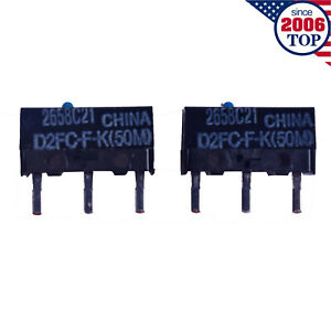 2pcs New Omron Mouse Micro Switch D2fc f k 50m Blue Dot Mouse Button Fretting