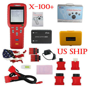 Usa Ship Xtool X 100 Plus Code Reader Immo Auto Programmer With Eeprom Adapter