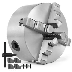 Lathe Chuck 4 K12 100 4 Jaw Self Centering Reversible Scroll Hardened Metal