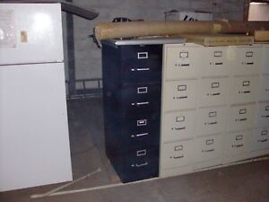 Black 4 Draw Steel Filing Cabinet