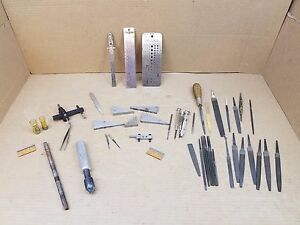 Nice Large Assorted Lot Of Miscellaneous Tools From A Machinist Tool Box m3