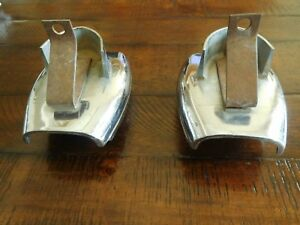 1950 1956 Accessory Ford Mercury Bumper Dual Exhaust Tips Chrome Extensions