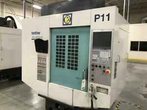2009 Brother Tc s2dn 0 Cnc 4th Axis Vertical Machining Center 10k Rpm 21 Atc