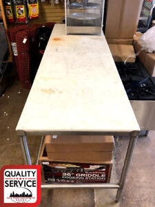 Commercial Poly Top Work Table Stainless Steel 30 X 96