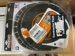 14 In Diamond Blade Laser Welded dry wet Cutting Ridgid 3 Pack
