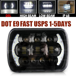 For Toyota Pickup Truck 5x7 7x6 130w H6054 Halo Drl Sealed Beam Led Headlight