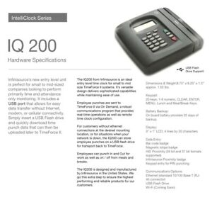 New Iq200 Time Clock Qqest Infinisource Isolved Timeclock