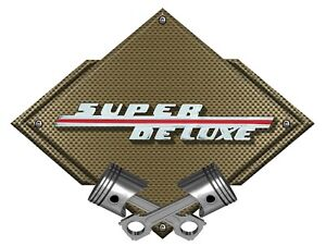 Ford Vintage Super Deluxe Bronze Carbon Flat Metal Art Wall Sign large