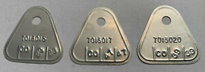 1959 60 Rochester Tri Power Carb Tag Set Chevy 348 3pc 7013015 7013020 7013017