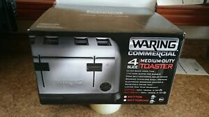 Waring Wct708 Commercial 4 slot Toaster 120 Volt 1 Year Warranty Genuine