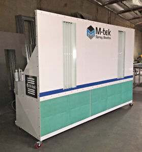 New Mobile M tek Prep Station Paint Spray Booth Powder Coated White