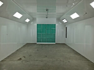 New M tek Front Air Cross Flow Paint Spray Booth