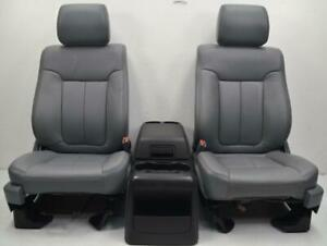 2009 2010 2011 2012 2013 2014 Ford F150 Front Gray Leather Seats Center Console