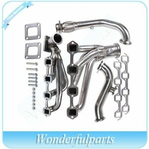 For Ford 1982 Mustang Glx Stainless T4 Steel Turbo Manifold Exhaust cross Pipe