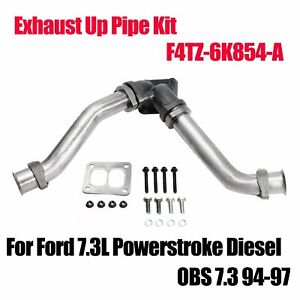Exhaust Up Pipe Kit For 1994 1995 1996 1997 Ford 7 3l Powerstroke Diesel Obs 7 3