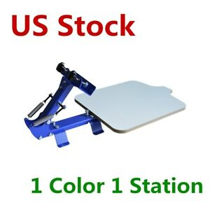 Us Stock 1 Color 1 Station Diy T shirt Silk Screen Printing Press Machine