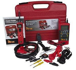Power Probe Professional Electrical Test Kit Red Pprokit01 Inc Iii W Ppdmm