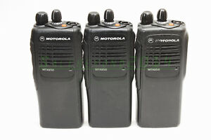 Motorola Mtx850 800 Mhz Two way Portable Radio Model Aah25ucc6gb3an Set Of 3 Uni