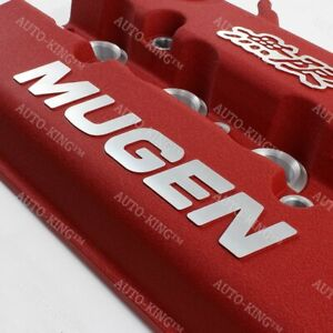 Mugen Racing Rocker Valve Cover For Honda Civic B16 B17 B18 Vtec B18c Gsr Red