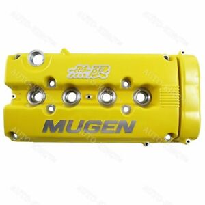 Mugen Style Engine Valve Cover For Honda Civic B16 B17 B18 Vtec B18c Dohc Yellow