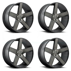 4 New 30 Dub Baller S116 Wheels 30x10 6x5 5 6x139 7 30 Black Machined Rims