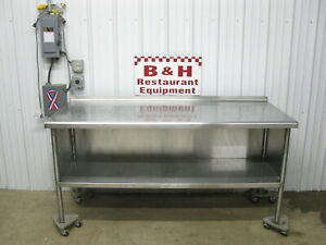 72 X 30 Heavy Duty Stainless Steel Kitchen Cabinet Work Table 6