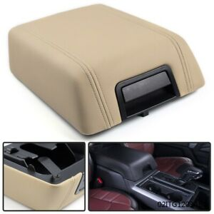 For 04 08 Ford F 150 Beige Leather Center Console Arm Rest 5l3z1506024aad