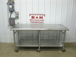 72 X 30 Heavy Duty Stainless Steel Island Kitchen Work Top Prep Table 6