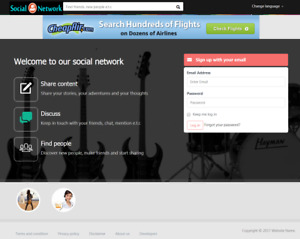 Social Community Network Website Hosting Included